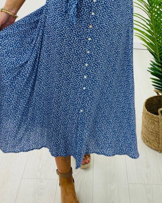 Blue forget me not skirt